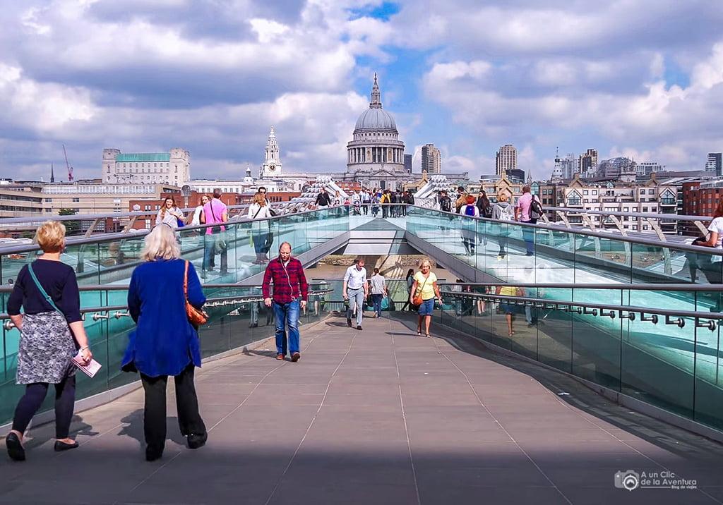 Millenium Bridge o Puente del Milenio, Londres en dos días