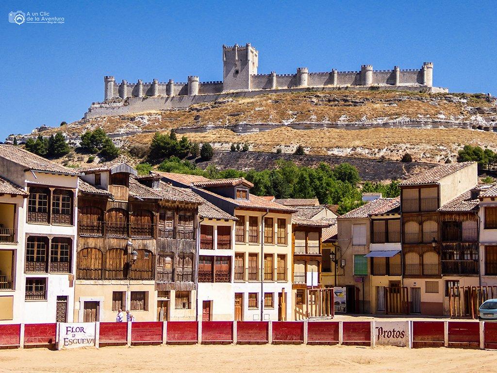 Peñafiel desde la Plaza del Coso - pueblos bonitos de Castilla y León