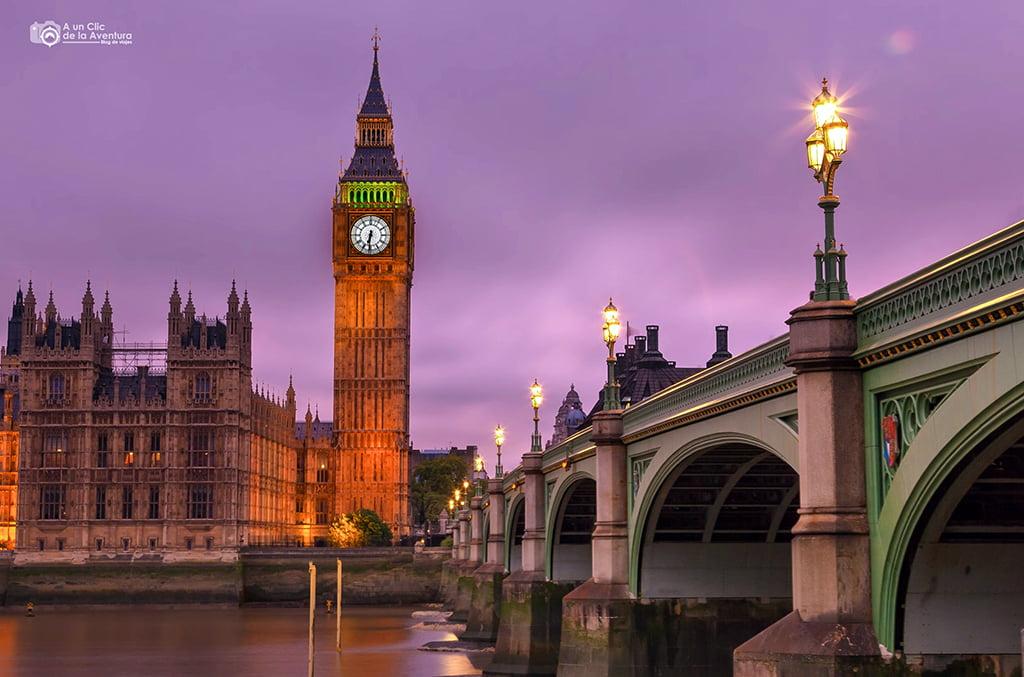Puente de Westminster, Londres en dos días