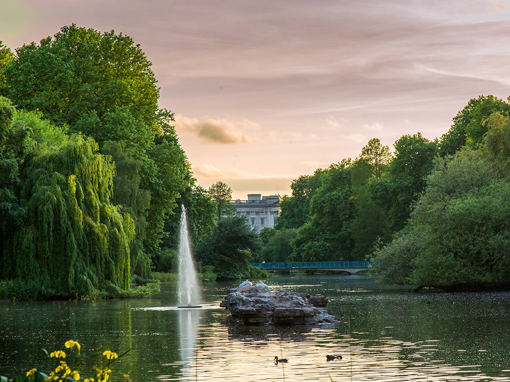Lago de St. James Park, Londres en dos días
