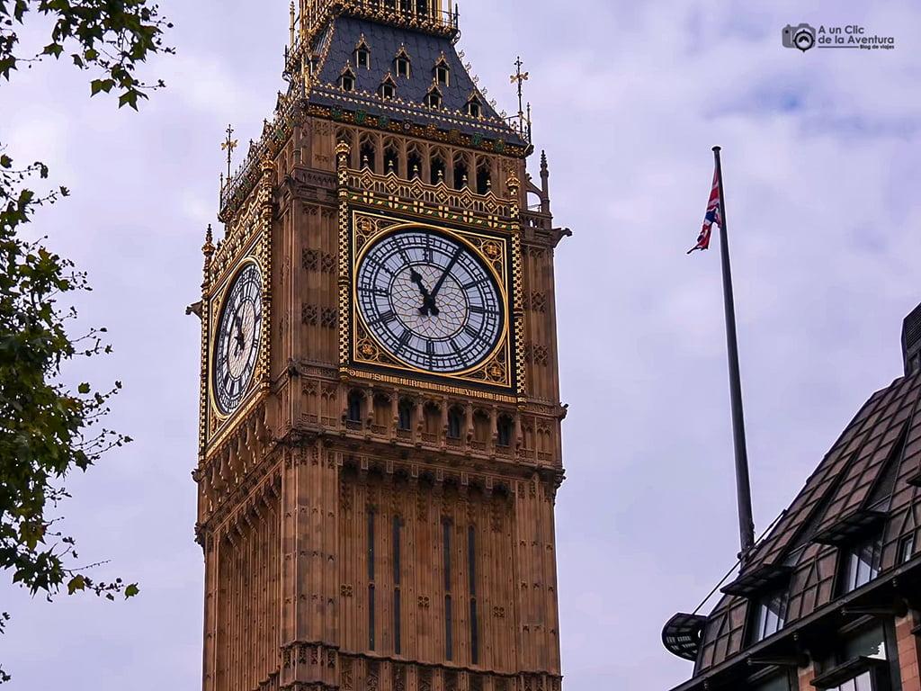 Torre Elizabeth y Big Ben, Londres en dos días
