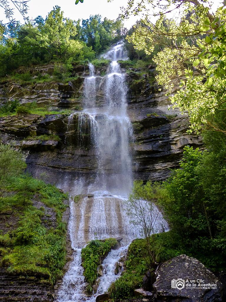 Primera cascada de Sorrosal, Cascadas del Pirineo Aragonés