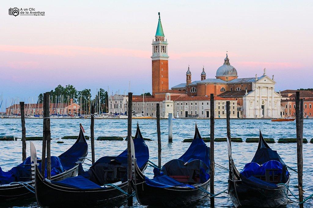 Vista de la Iglesia de San Giorgio Maggiore - viajar a Venecia