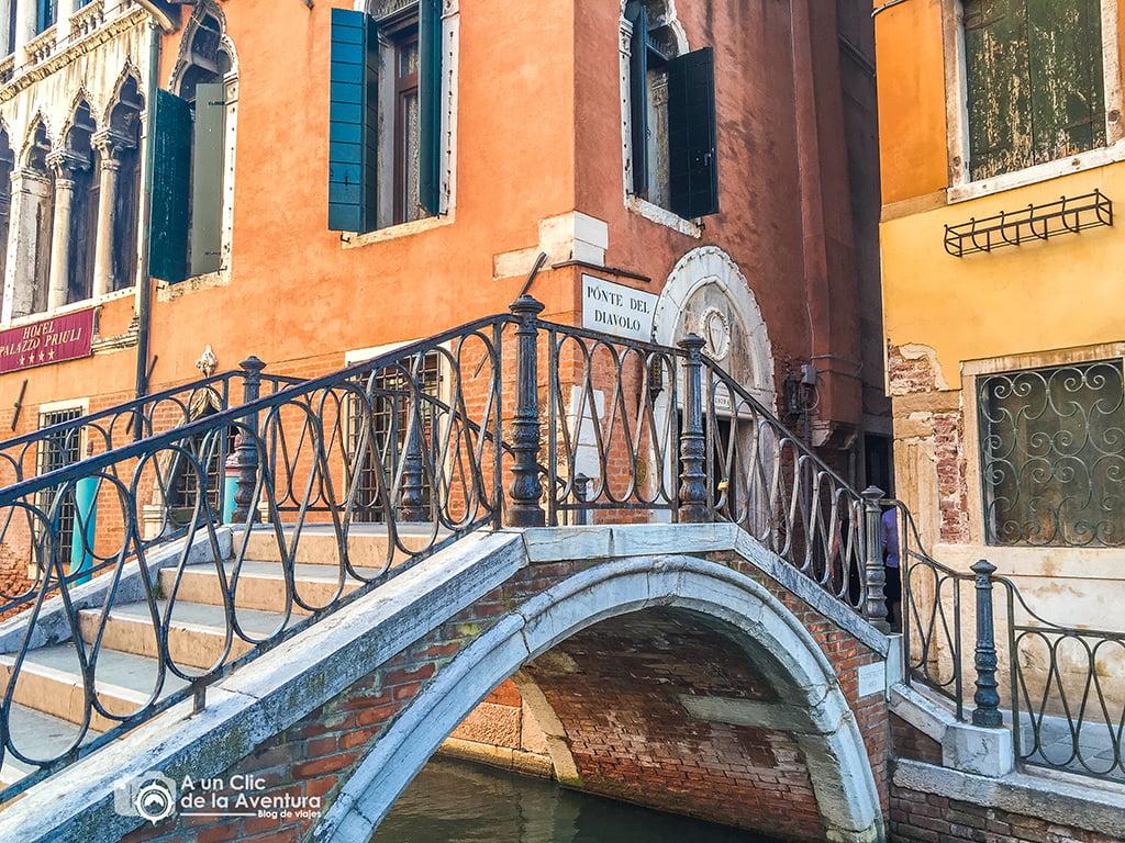 Puente del Diablo en Venecia - viajar a Venecia