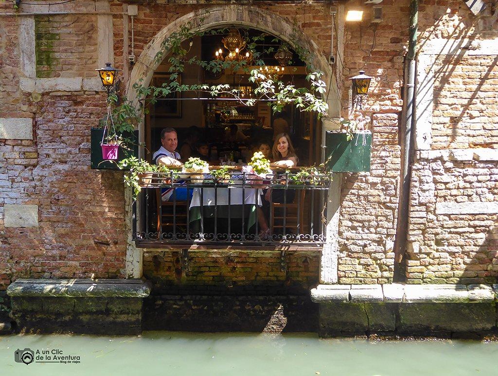 Restaurante en Venecia - viajar a Venecia