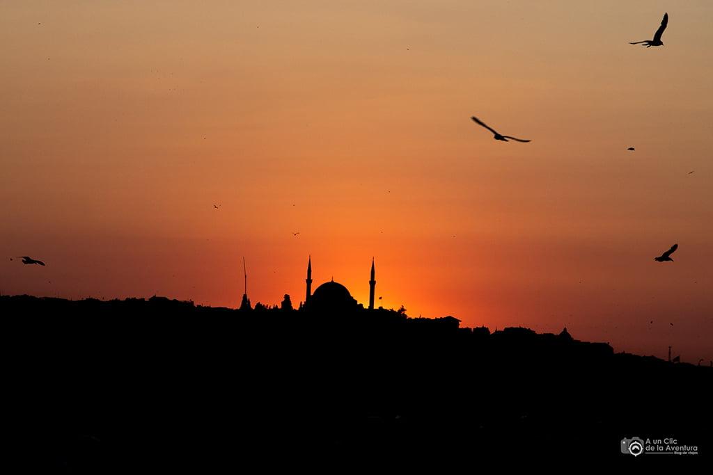 Atardecer en Estambul, viaje a Estambul