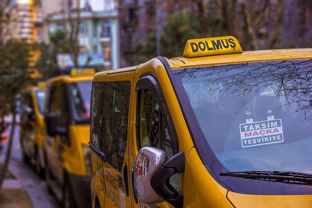 Dolmus de Estambul - medios de transporte de Estambul