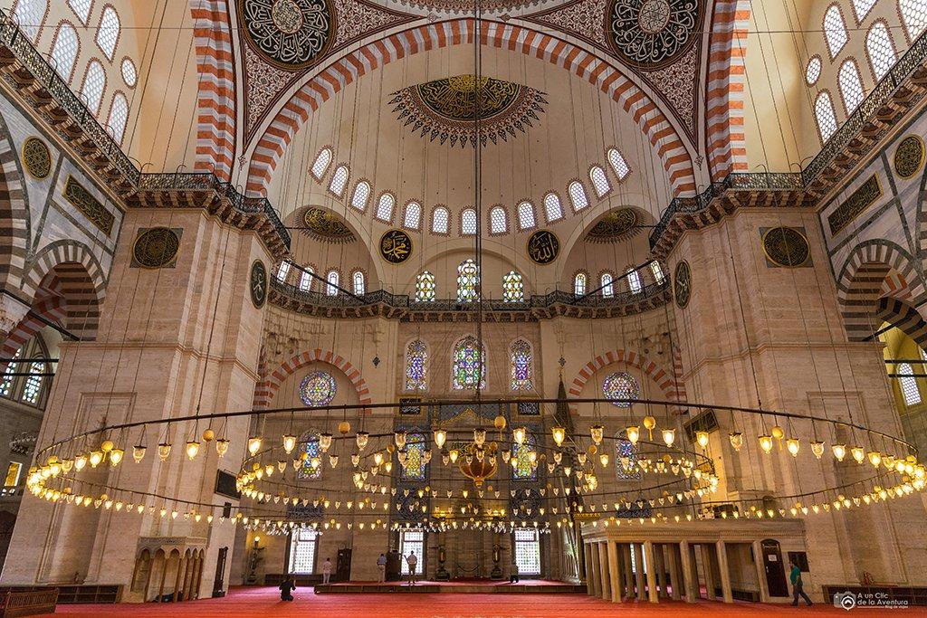 Mezquita de Suleiman o Süleymaniye Camii, viaje a Estambul