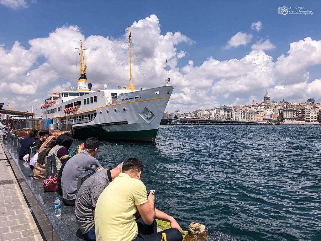 Puerto de Eminönü- medios de transporte de Estambul