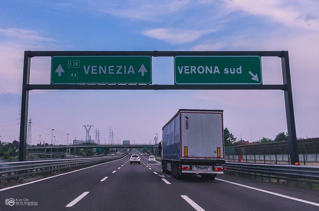 viajar en coche a Venecia