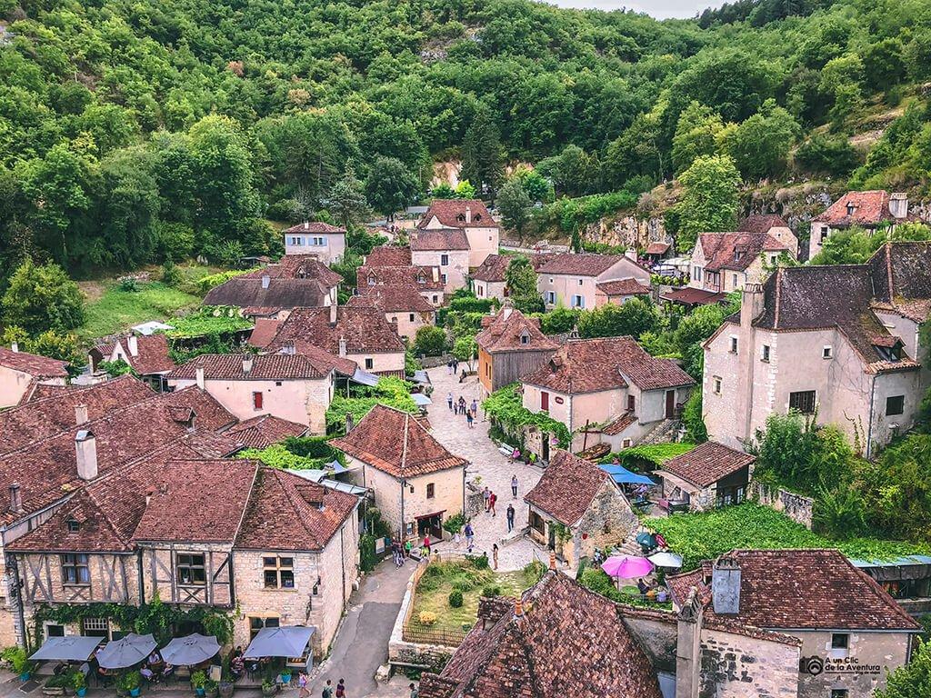 Vistas de Saint-Cirq Lapopie desde el Castillo