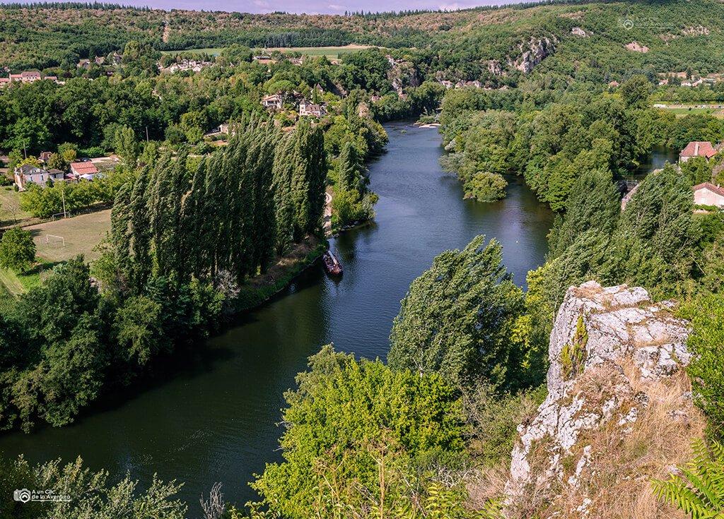 Vistas del río Lot desde Saint-Cirq Lapopie