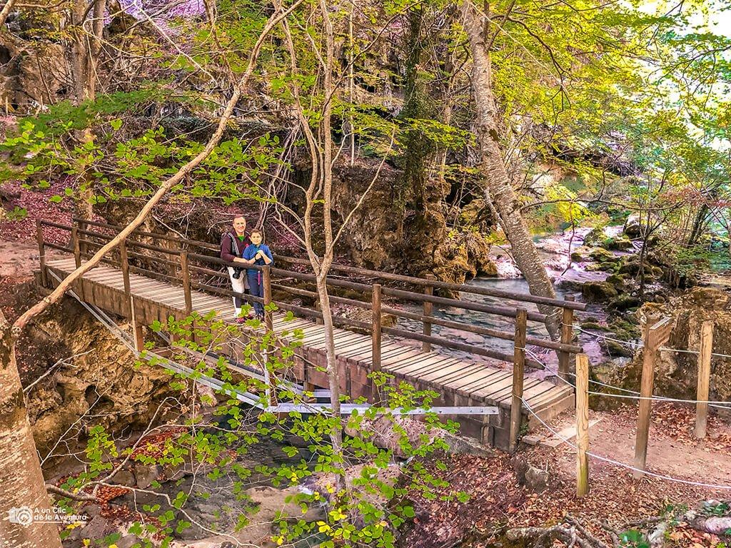 Puente cerca del nacedero del Urederra