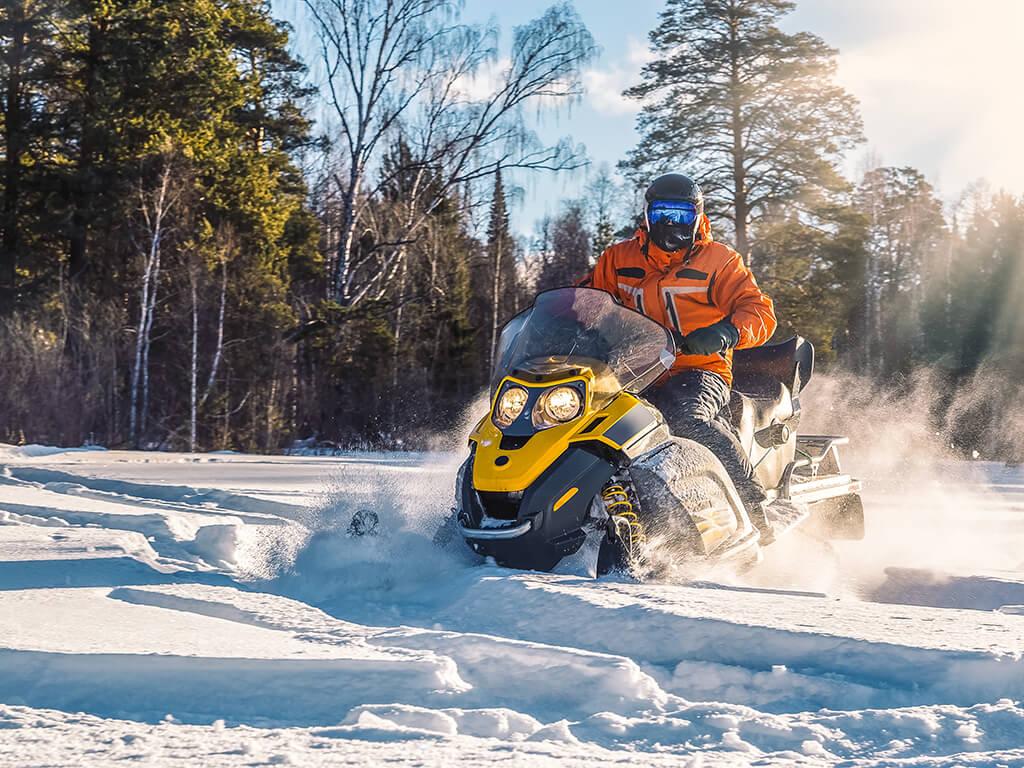 Moto de nieve - Actividades al aire libre en invierno