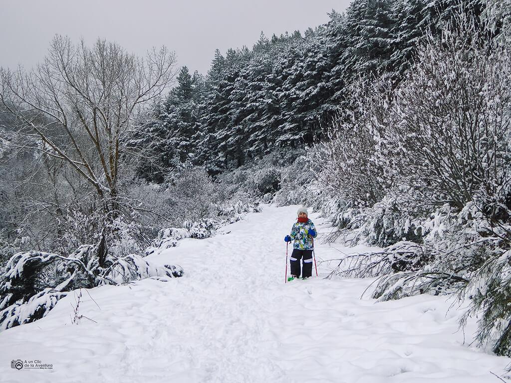 Ruta con raquetas de nieve en Pineda de la Sierra, Burgos - Actividades al aire libre en invierno