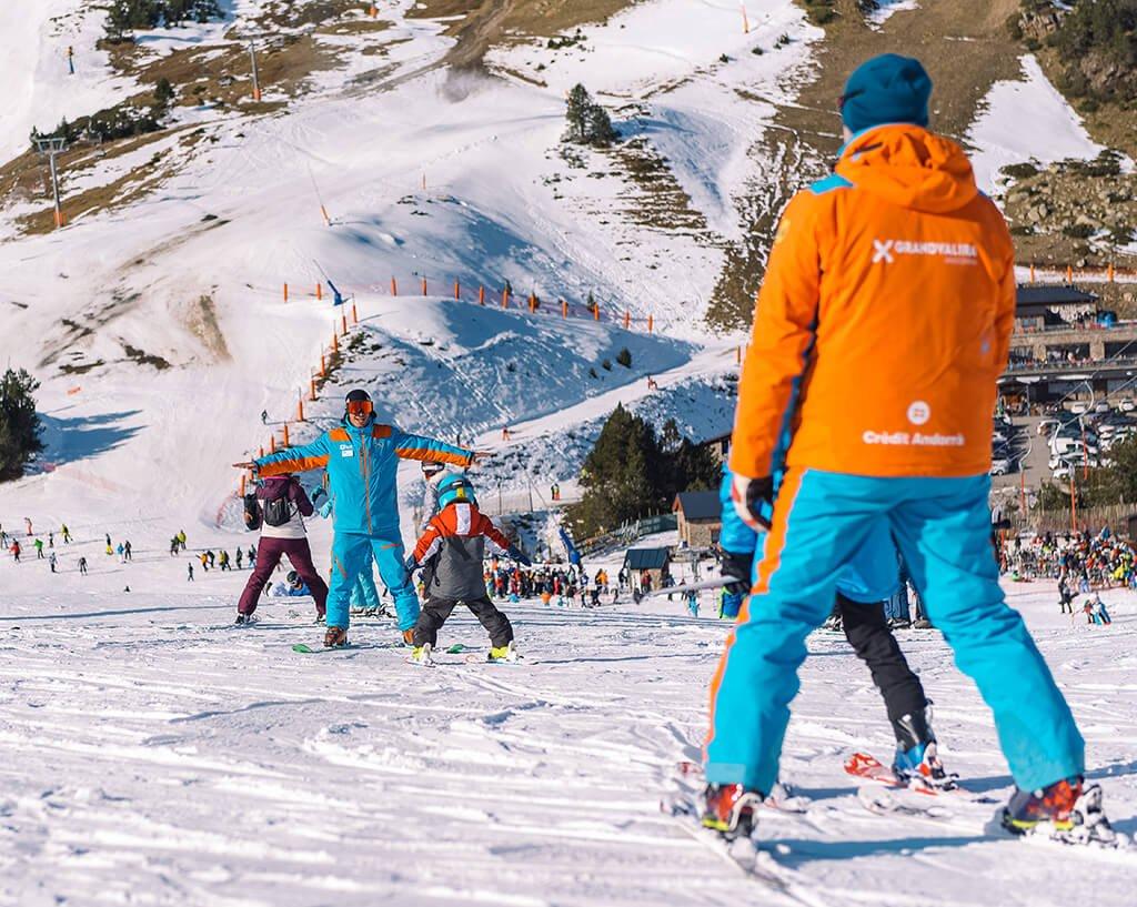 Escuela de esquí de Grandvalira, Andorra - esquiar en Andorra