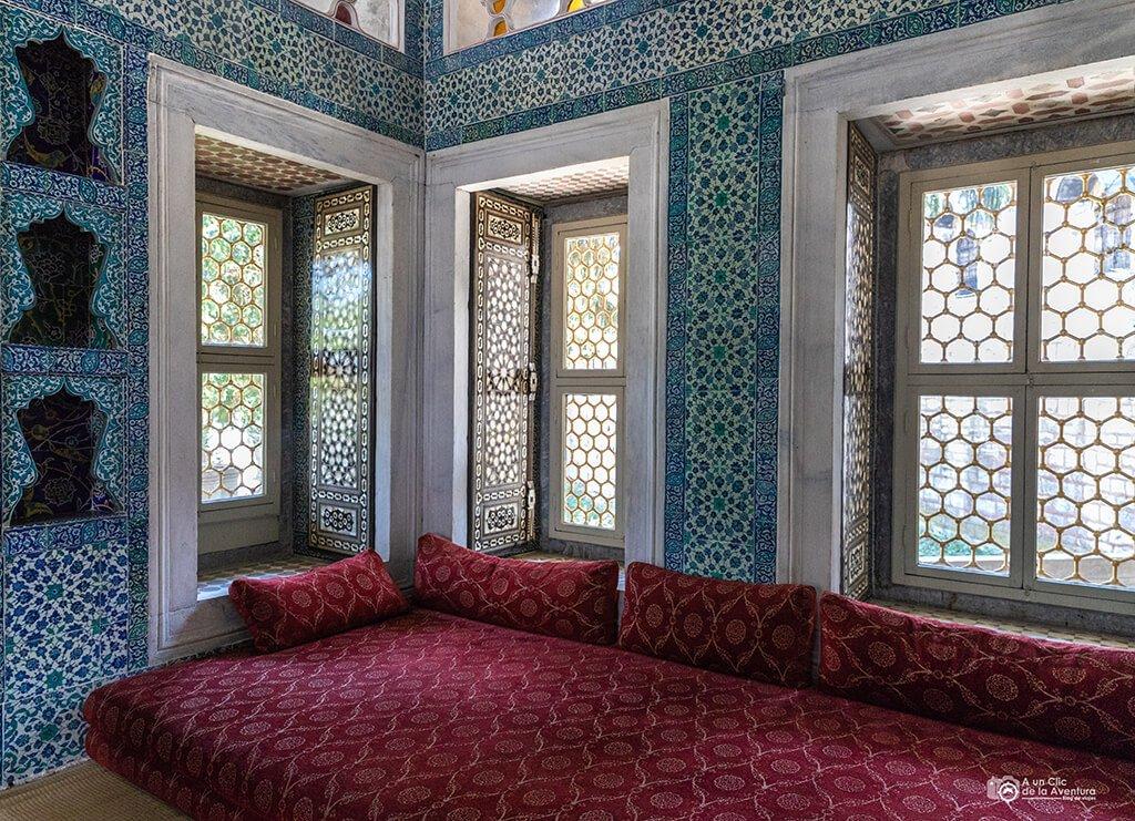 Interior del Pabellón de Bagdad del Palacio de Topkapi - visitar el Palacio de Topkapi