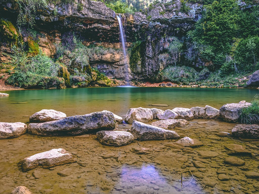 Cascada del Colomer de Las Siete Cascadas del Torrent de la Cabana- Cascadas del Pirineo Catalán