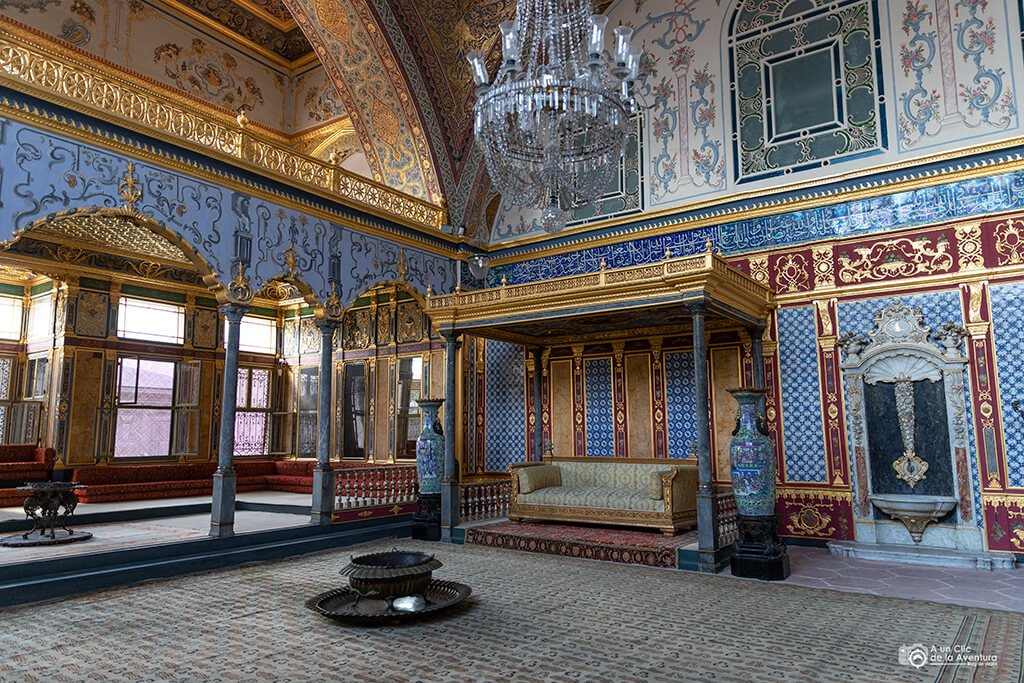 Sala de Ceremonias del Sultán en el Harén del Palacio de Topkapi - visitar el Palacio de Topkapi