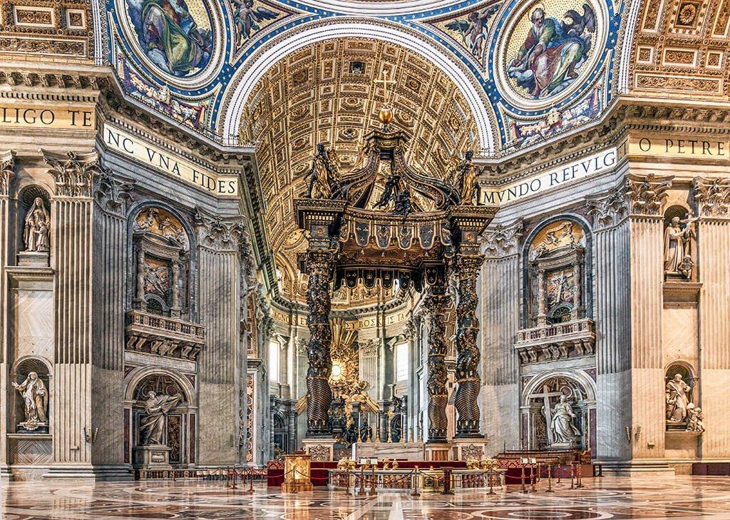 Baldaquino de San Pedro, Basílica de San Pedro del Vaticano - visitar el Vaticano