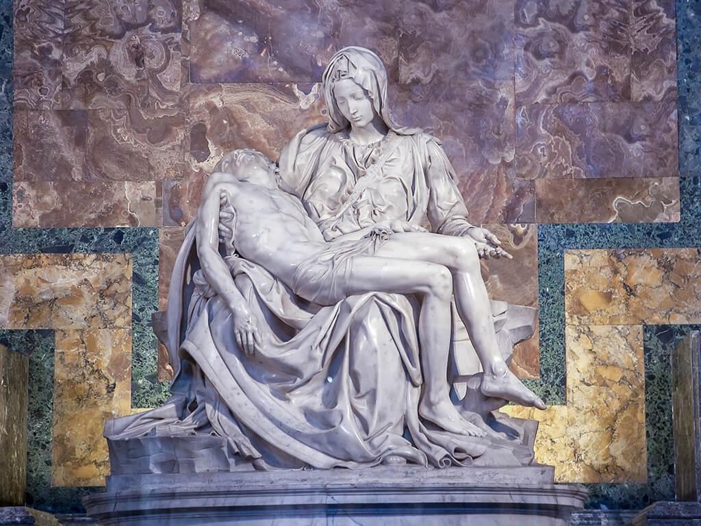La Piedad de Miguel Ángel, Basílica de San Pedro - visitar el Vaticano
