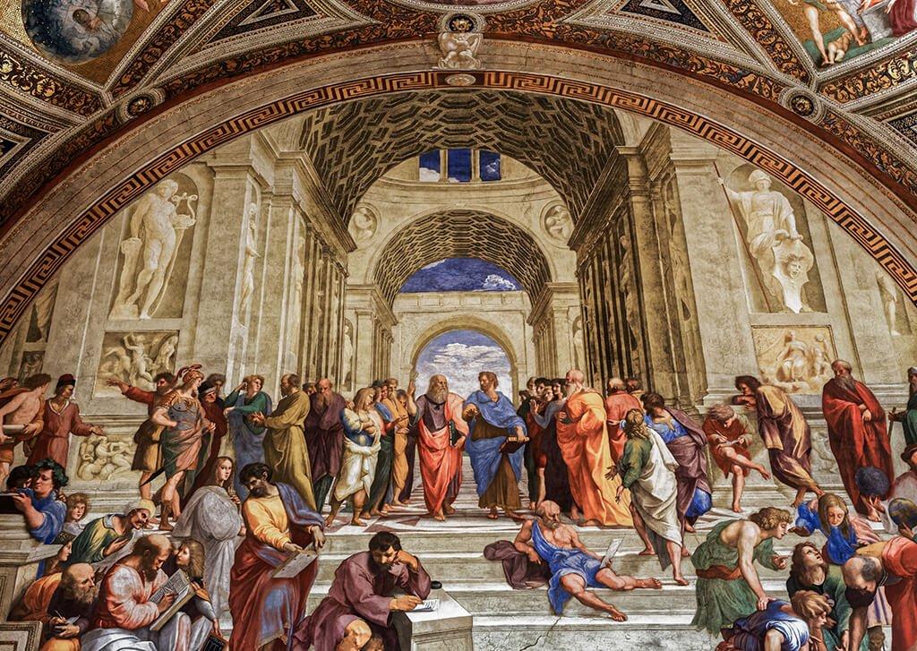 La Escuela de Atenas de Rafael, Museos Vaticanos - visitar el Vaticano