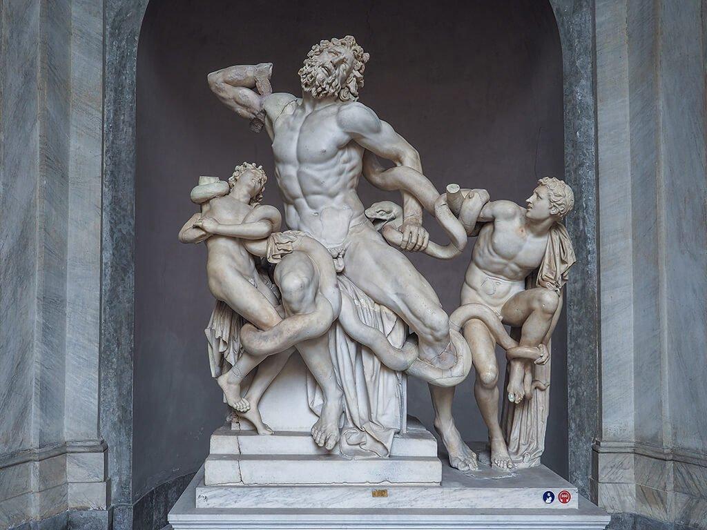 Laocoonte y sus hijos, Museos Vaticanos - visitar el Vaticano