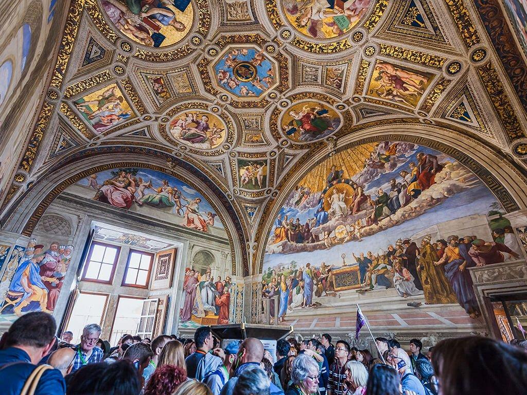 Sala de la Signatura, Museos Vaticanos - visitar el Vaticano
