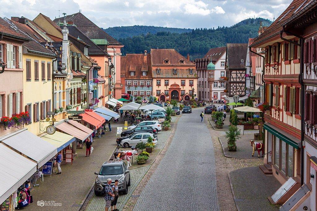 Vistas del centro de Gengenbach desde la Obertorturm