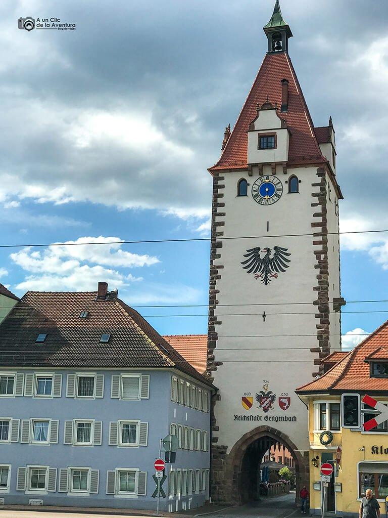 Entrada a Gengenbach por la Torre Kinzig