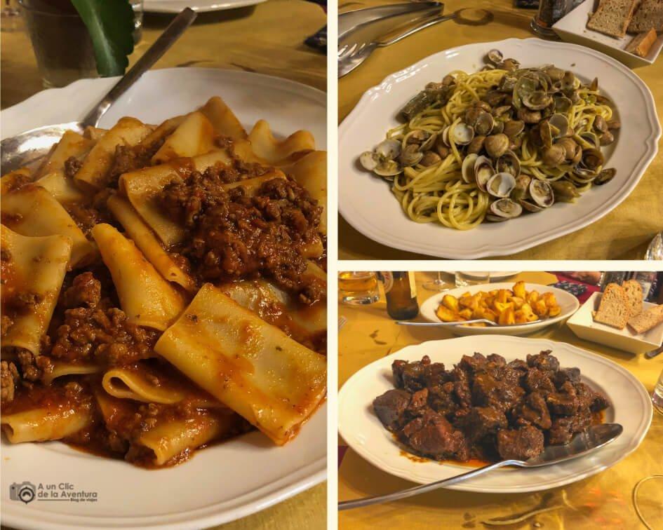 Menú en La Canttineta Vini, Pontedera