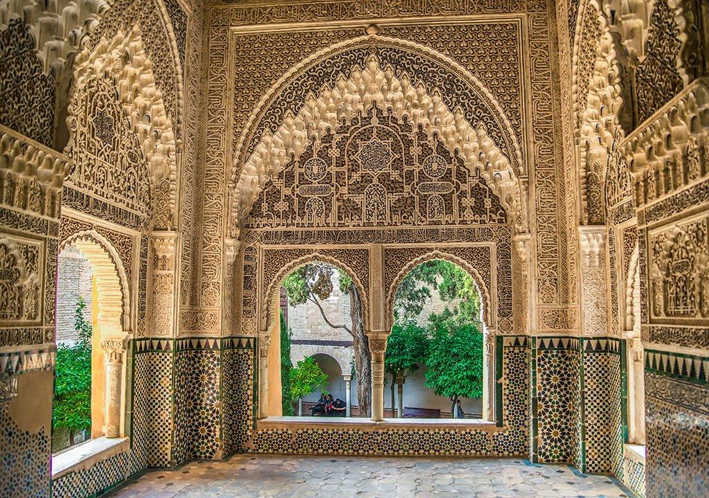 Mirador de Lindaraja en los Palacios Nazaries - visitar la Alhambra de Granada