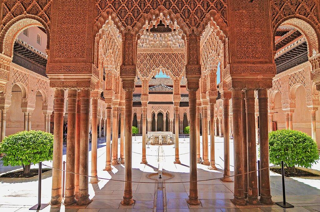 Patio de los Leones - visitar la Alhambra