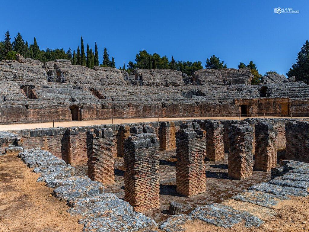 Anfiteatro romano de Itálica, Santiponce