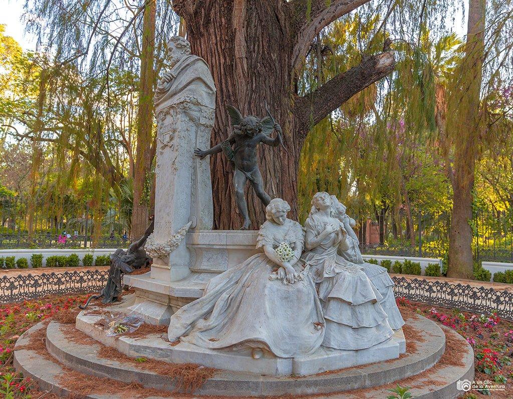 Monumento a Bécquer, Parque de María Luisa, Sevilla