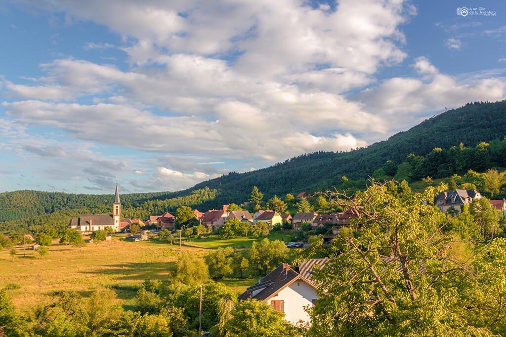 Panorámica de Tannenkirch, Alsacia