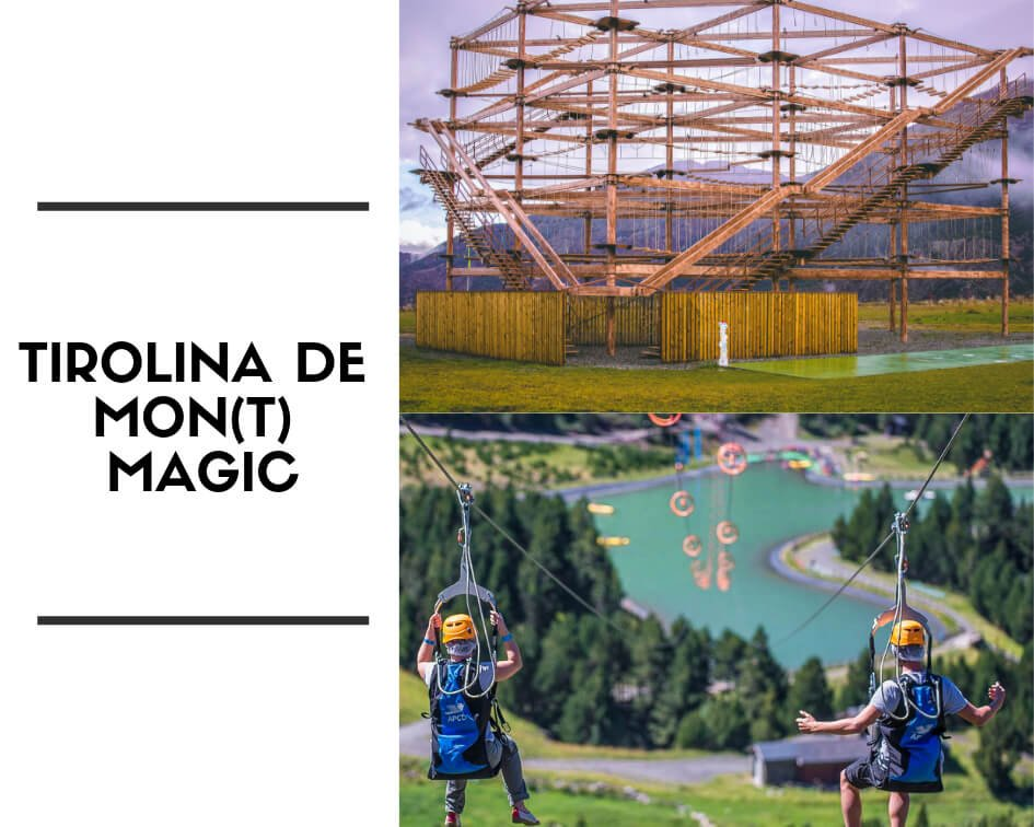 Tirolina de Mont Magic