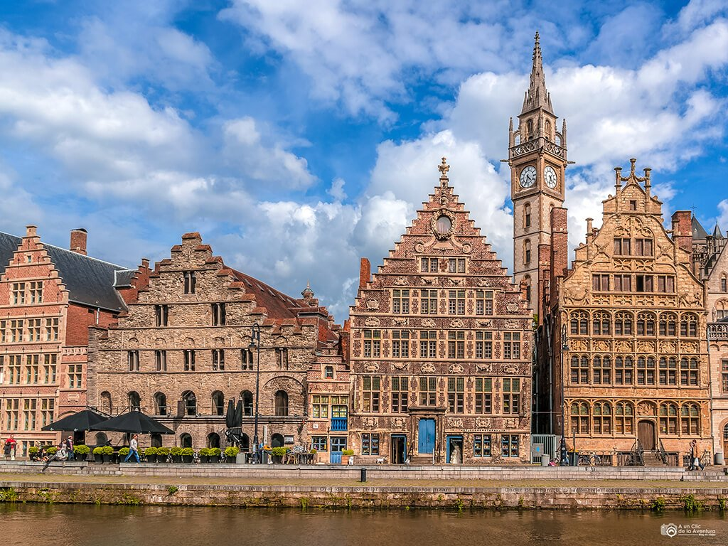 Edificios del Graslei o Muelle de las Hierbas - Qué ver en Gante