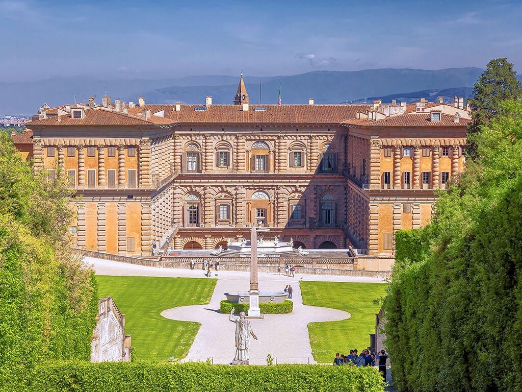 Palazzo Pitti desde los jardines de Boboli
