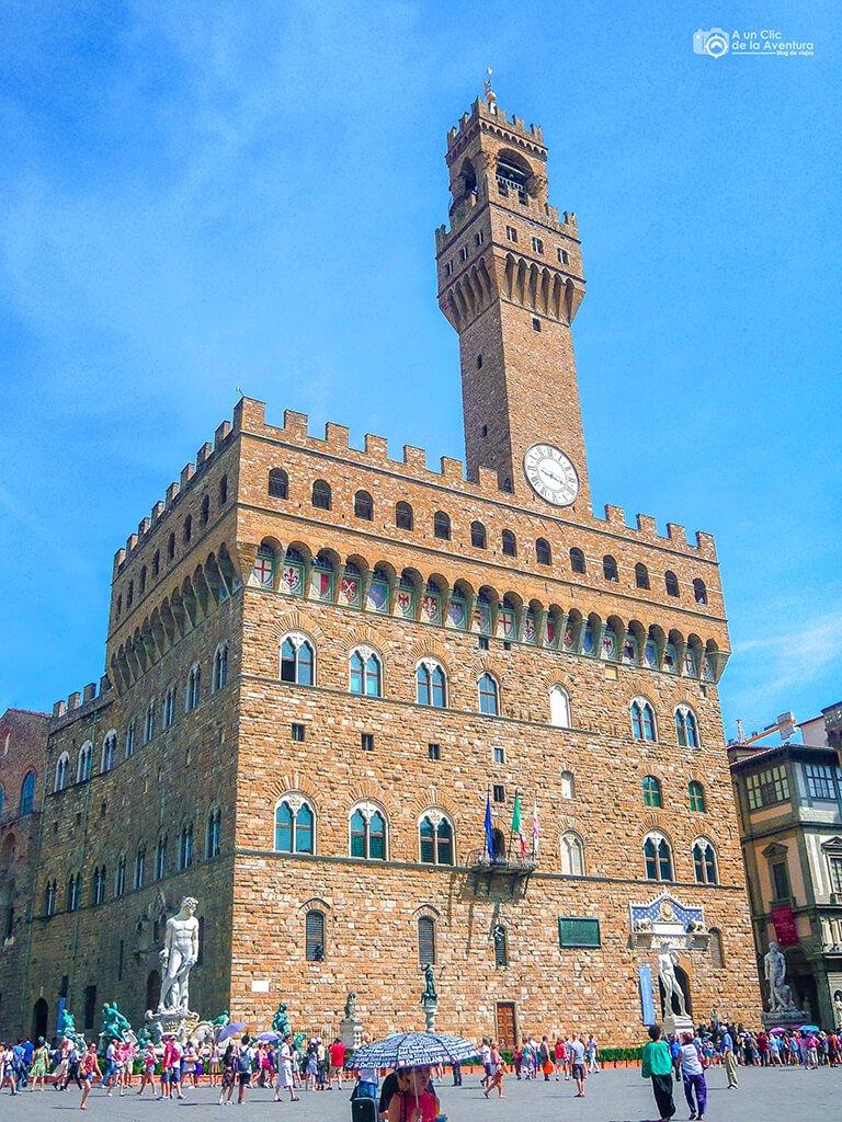 El Palazzo Vecchio en la Plaza de la Signoria