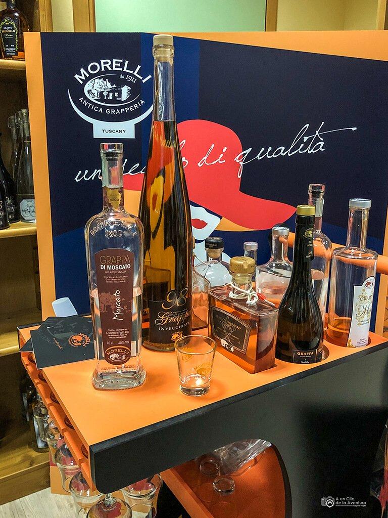 Productos de la destilería Liquori Morelli