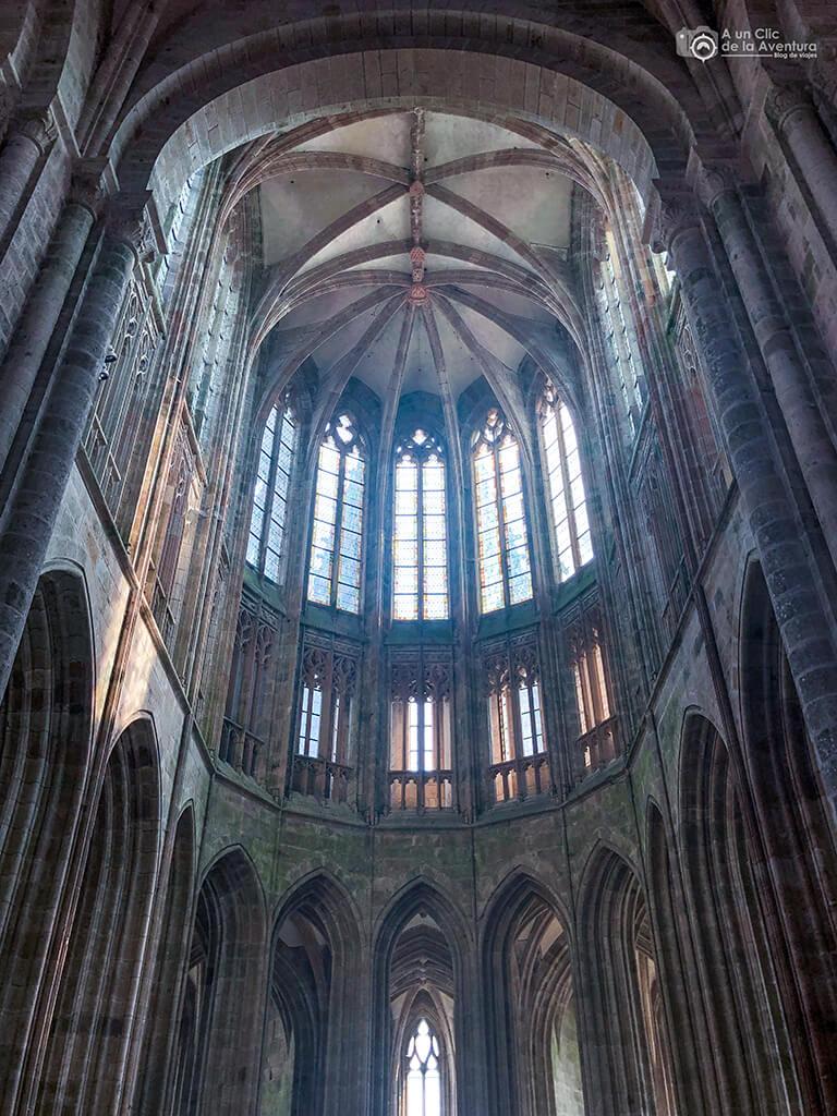 Ábside de la iglesia de la Abadía del Mont Saint-Michel