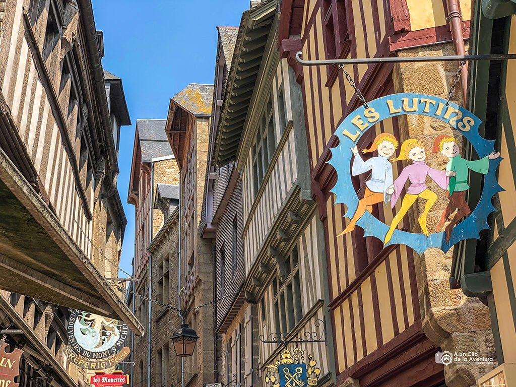 Casas de la Grand Rue o Gran Vía del Mont Saint-Michel