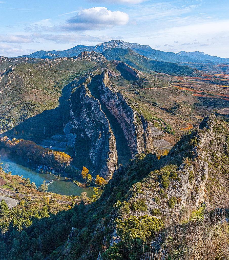 Las Conchas de Haro desde los Riscos de Bilibio, fin de semana en La Rioja Alta