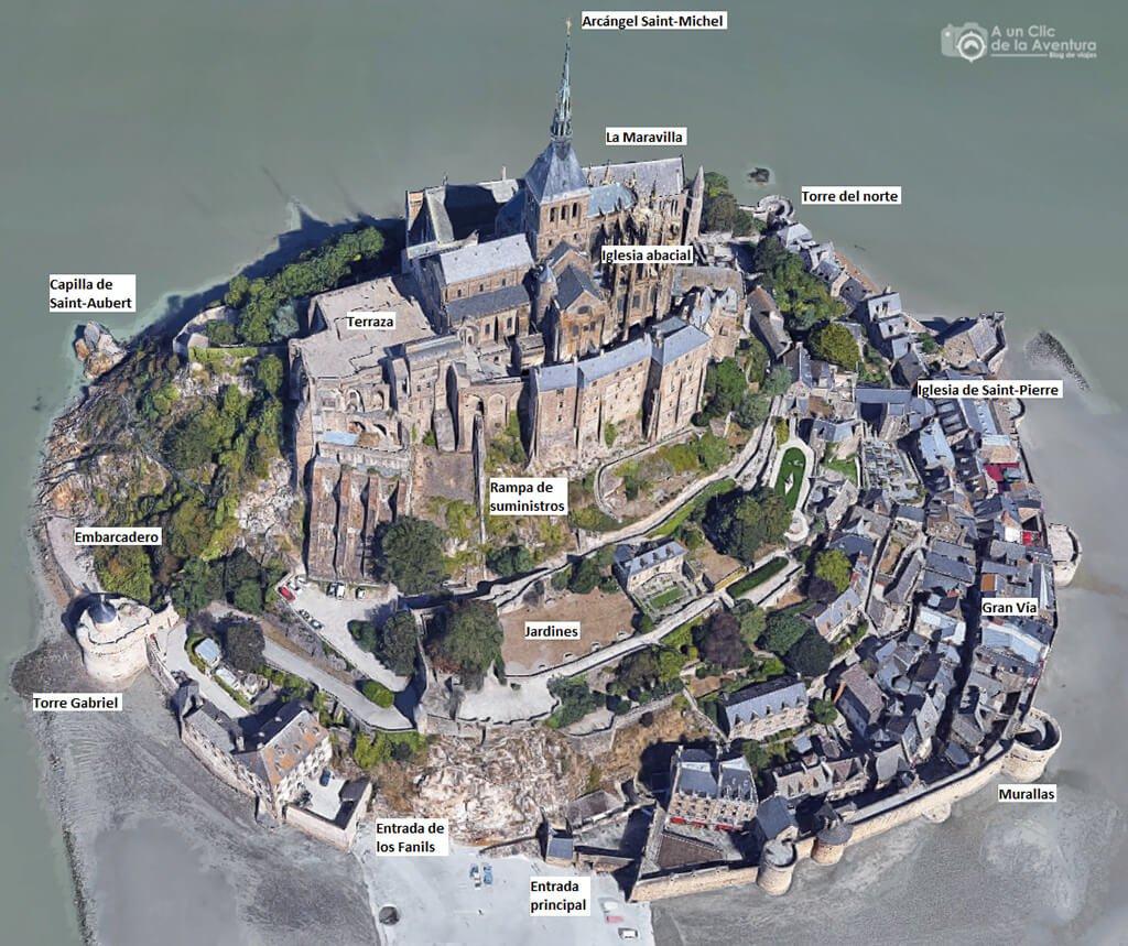 Mapa del Mont Saint-Michel