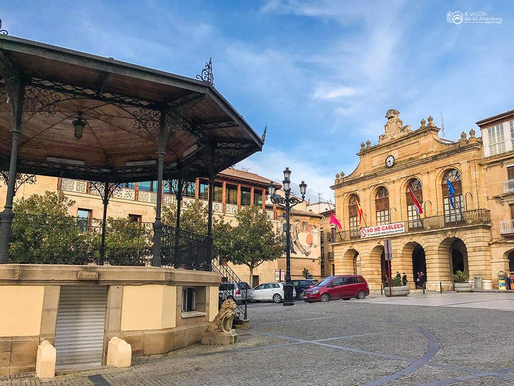 Plaza de la Paz de Haro, fin de semana en La Rioja Alta