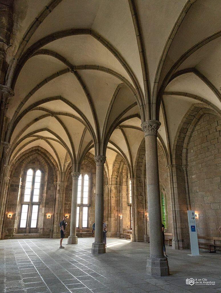 Sala de los huéspedes de la Abadía del Mont Saint-Michel