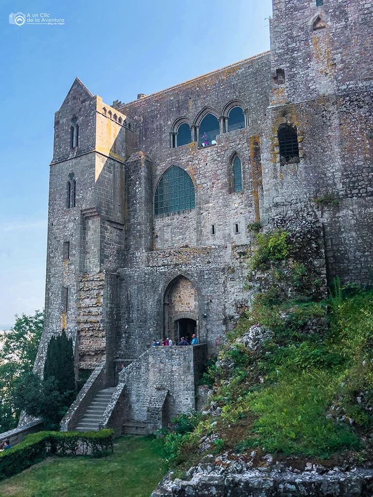 Salida de la visita de la Abadía del Mont Saint-Michel