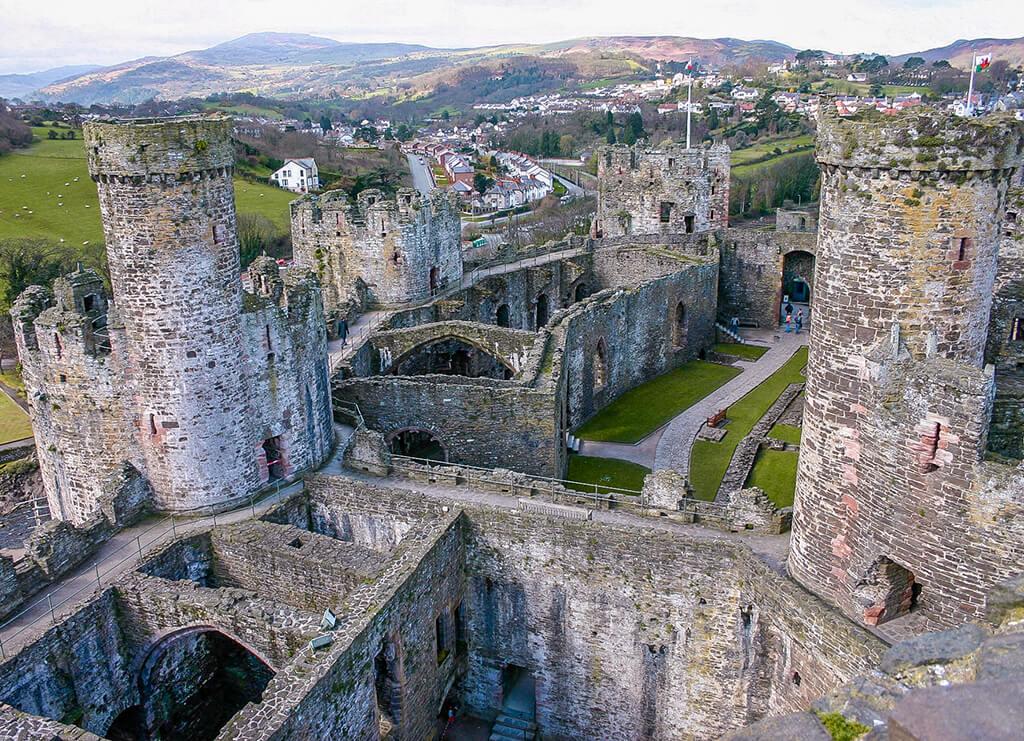 Castillo de Conwy, Castillos de Europa