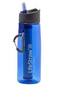 Botella de agua con filtro, regalos para viajeros